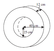 29a3b943d ... of as a hollow cylinder with a hole cut out of the centre. Find the  surface area of the exterior surfaces of the tyre (to the nearest whole  cm²).
